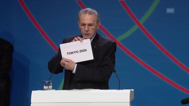Video «OS 2020: Tokio erhält den Zuschlag («sportaktuell»)» abspielen