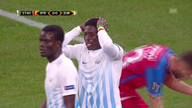 Video «Der FCZ holt bei Steaua einen Punkt» abspielen