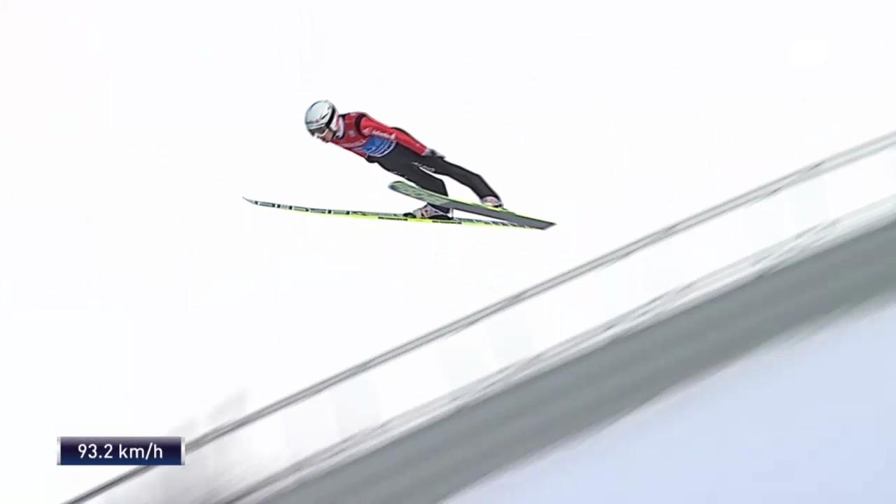 Skispringen: Vierschanzentournee Garmisch, 2. Sprung Ammann («sportlive», 1.1.2014)