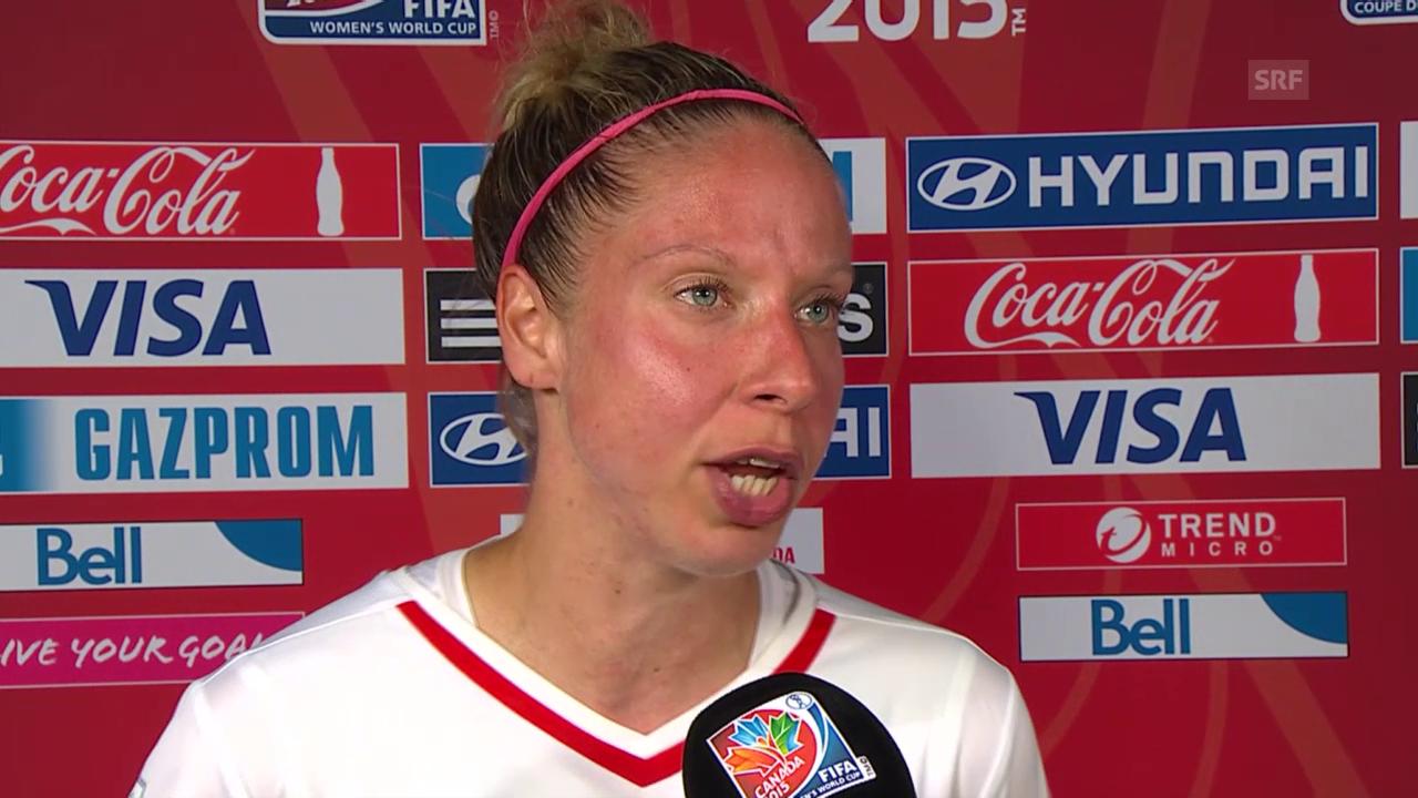 Fussball: Frauen-WM, Japan-Schweiz, Interview mit Caroline Abbé