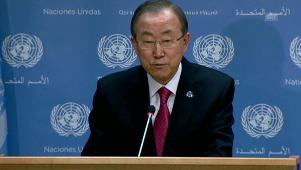 Ban Ki Moon: «Möge er uns jeden Tag inspirieren» (engl.)