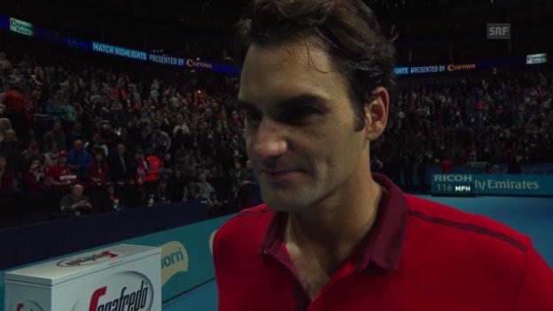 Video «Tennis: ATP Finals, Interview mit Roger Federer» abspielen