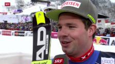 Video «Glänzendes Swiss-Ski-Resultat in Kitzbühel» abspielen