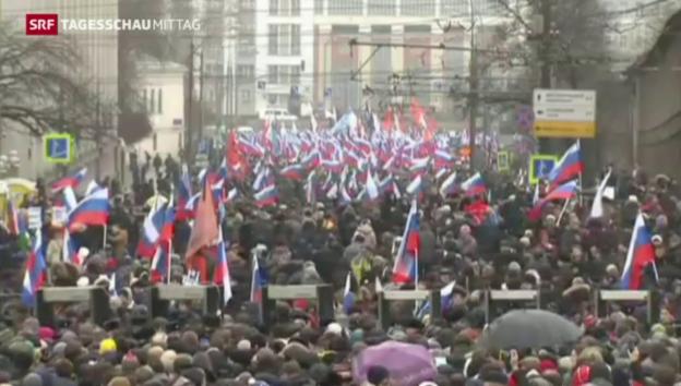 Video «Neue Hinweise zum Mord an Putin-Kritiker Nemzow» abspielen