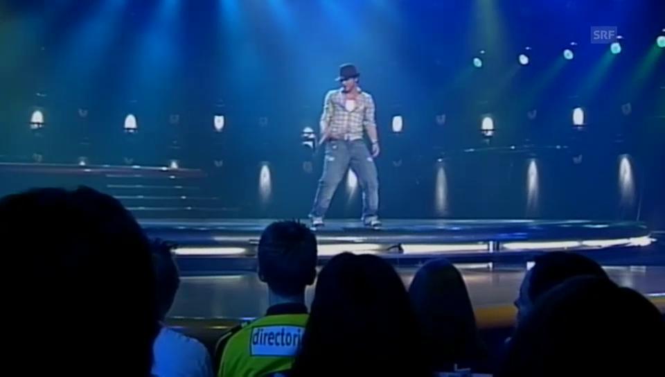 Baschis erster Auftritt bei MusicStar, Dezember 2003