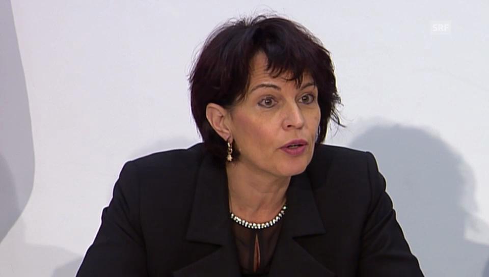 «Keine Reserven in der Strassenkasse» Bundesrätin Doris Leuthard