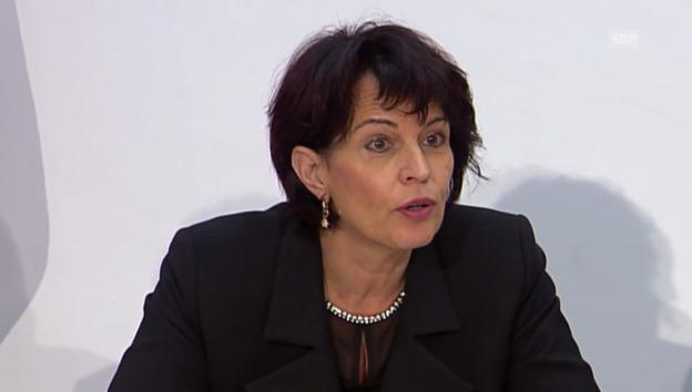Video ««Keine Reserven in der Strassenkasse» Bundesrätin Doris Leuthard» abspielen