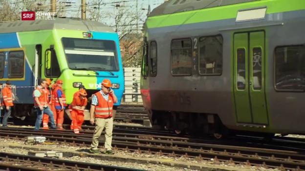Video «Zugentgleisung im Bahnhof Bern» abspielen