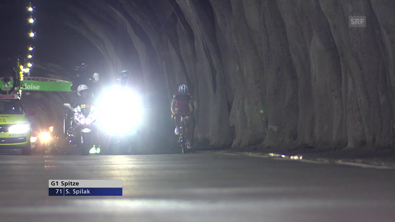 Vom Berg geschluckt - die Tour de Suisse im Tunnel