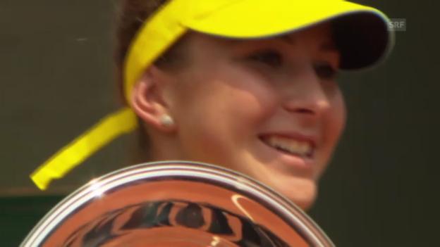 Video «Bencic gewinnt Juniorinnen-Turnier der French Open» abspielen
