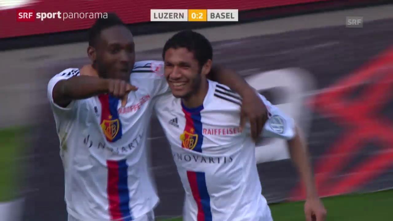 Fussball: Super League, Zusammenfassung Luzern - Basel («sportpanorama»)