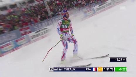 Video «Ski Alpin Männer SuperG Saalbach, Fahrt von Theaux» abspielen