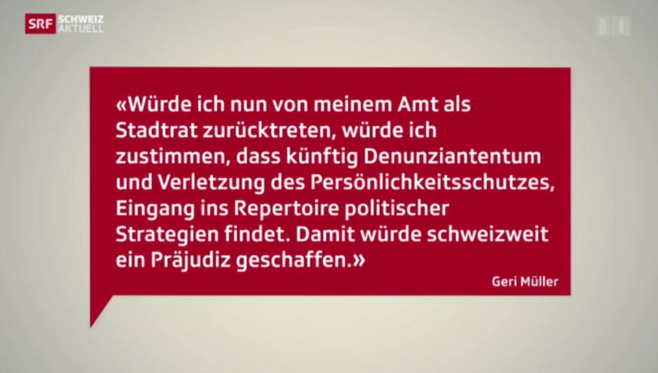 Geri Müller bleibt Badener Stadtammann
