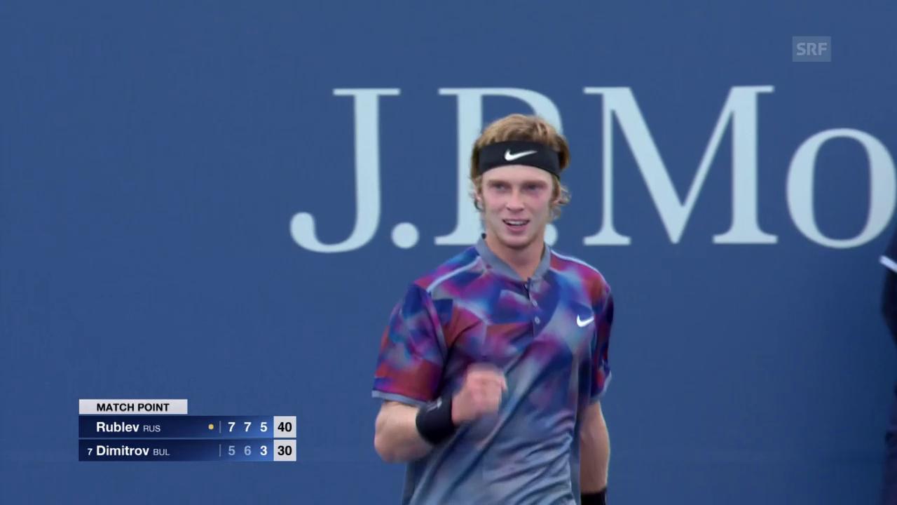 Youngster Rublew eliminiert Dimitrov