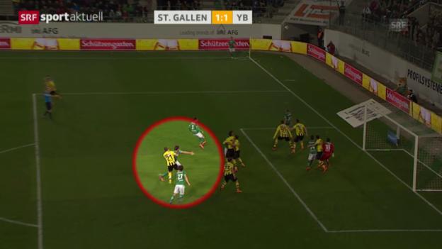 Video «Fussball: Super League, Zusammenfassung St. Gallen - YB» abspielen