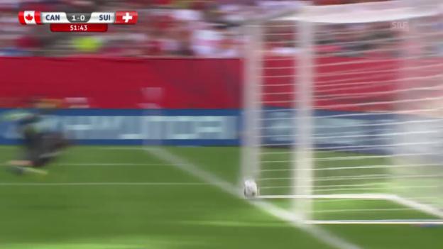 Video «Fussball: Frauen-WM, Achtelfinal, Kanada - Schweiz, 1:0 Kanada» abspielen