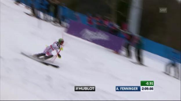 Video «WM-Super-Kombi Frauen 2011: Anna Fenninger» abspielen