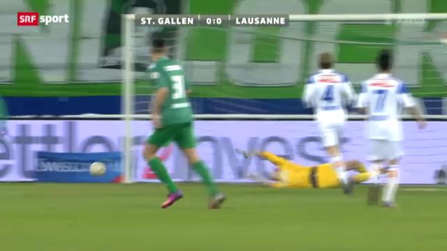 Fussball: FC St. Gallen - Lausanne