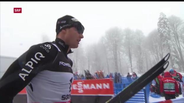 Video «Langlauf: Weltcup-Sprint in Sotschi («sportaktuell»)» abspielen
