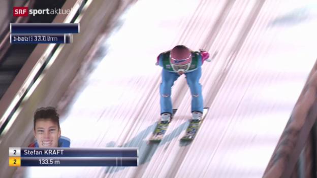 Video «Skispringen: Vierschanzentournee, 4. Springen in Bischofshofen» abspielen