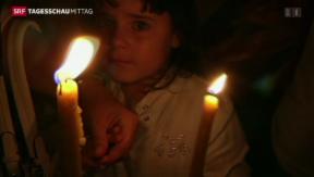 Video «Schwierige Bergung – Hoffnung für Überlebende» abspielen