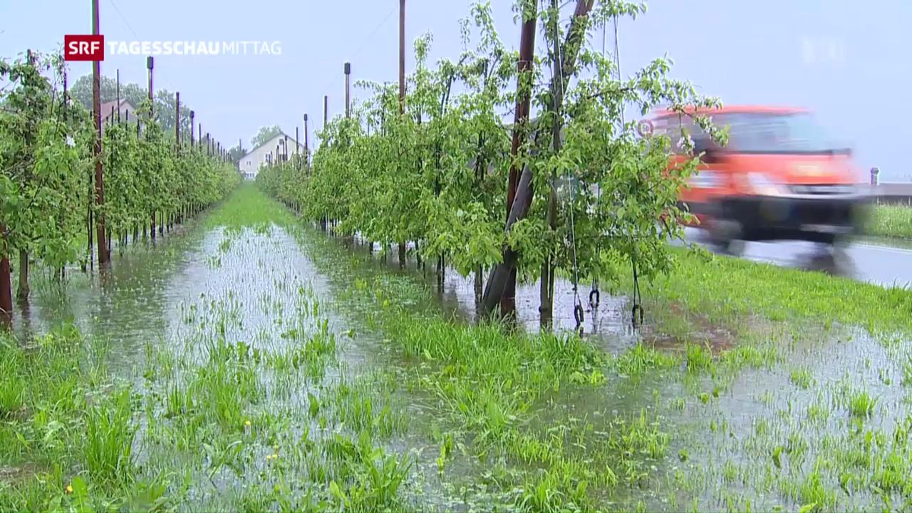 Grosse Schäden wegen Dauerregen