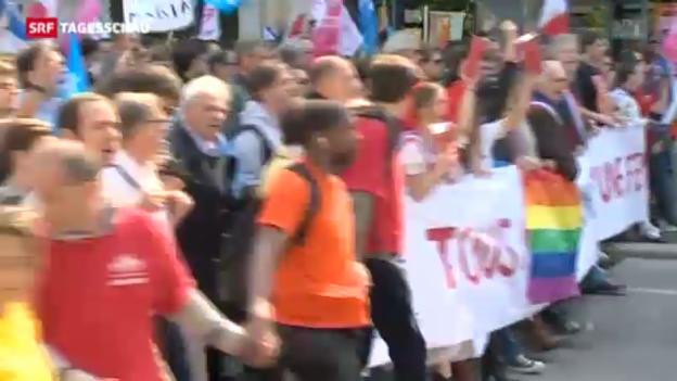 Video «Homo-Ehe polarisiert in Frankreich» abspielen