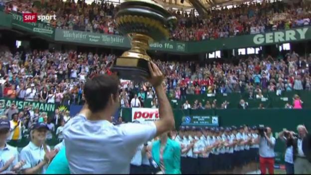 Video «Tennis: Spielbericht Federer - Juschni («sportpanorama»)» abspielen