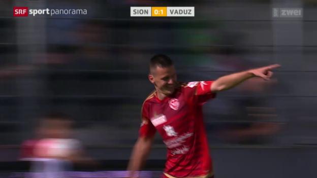 Video «Fussball: Super League, Sion - Vaduz» abspielen