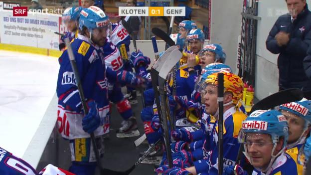 Video «Eishockey: NLA, Kloten - Genf» abspielen