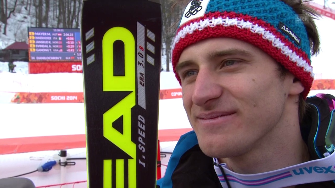 Sotschi: Ski, Abfahrt Männer, Interview Mayer