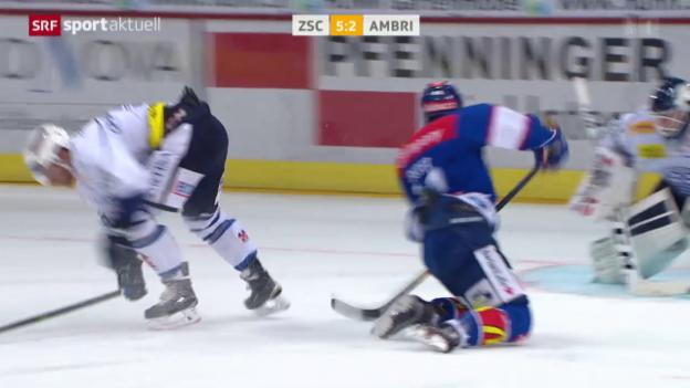 Video «Eishockey: Suters Treffer gegen Ambri» abspielen