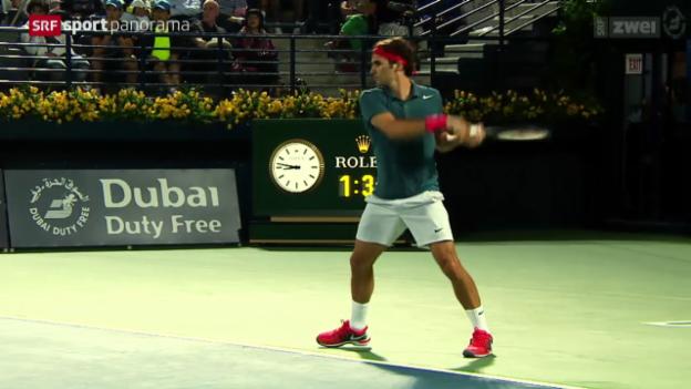 Video «Tennis: Federers beste Ballwechsel 2014» abspielen