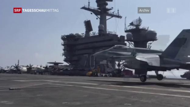 Video «US-Flugzeugträger fährt Richtung Korea» abspielen