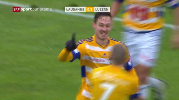 Video «Affolters Treffer zum 1:0 für Luzern» abspielen