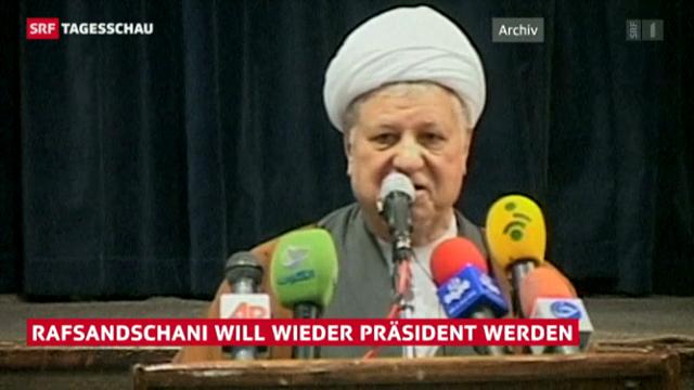 Rafsandschani will Präsident werden (Tagesschau)