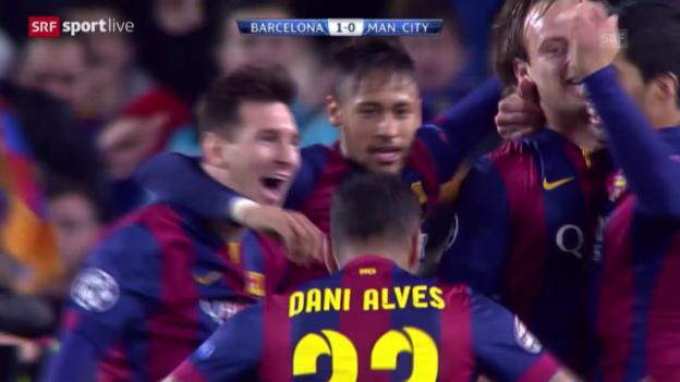 Video «Fussball: Champions League, Rakitics Tor gegen Manchester City» abspielen