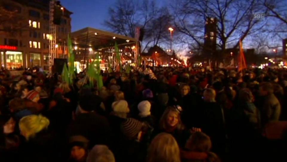 Demonstration gegen Pegida in München (unkommentiert)