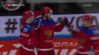 Video «Russland schlägt an der Eishockey-WM Norwegen» abspielen
