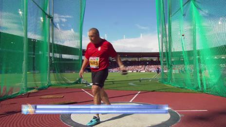 Video «Leichtathletik-EM: Siegeswurf von Pars» abspielen