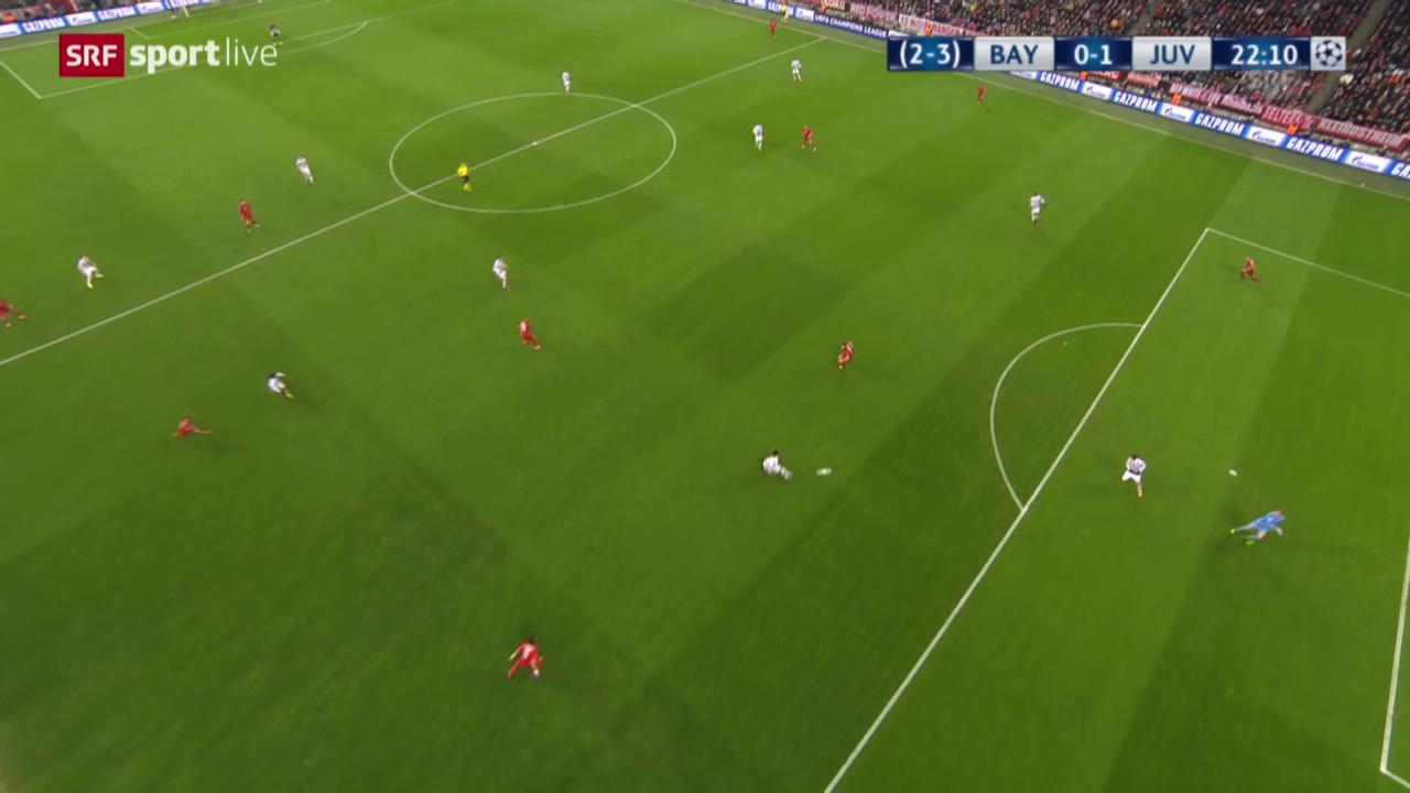 Aberkanntes Tor von Juventus gegen Bayern