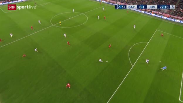 Video «Aberkanntes Tor von Juventus gegen Bayern» abspielen