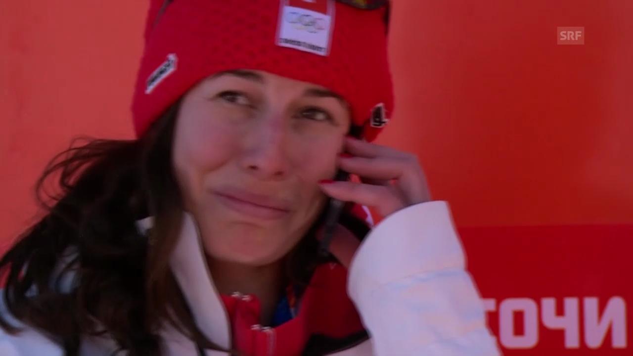 Sotschi: Dominique Gisin telefoniert ihrer Grossmutter