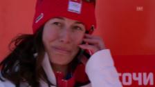 Video «Sotschi: Dominique Gisin telefoniert ihrer Grossmutter» abspielen