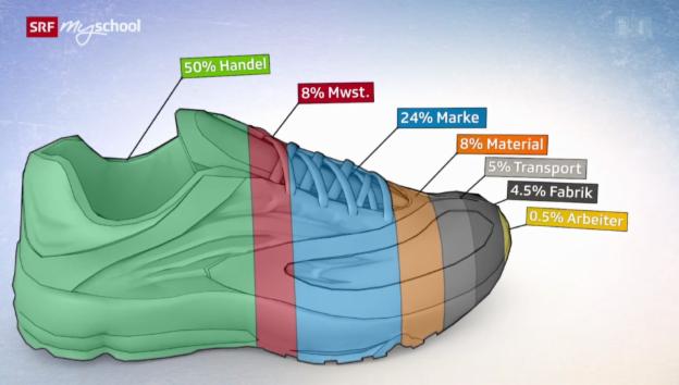 Video «160 Franken für einen Schuh – wohin geht das Geld?» abspielen
