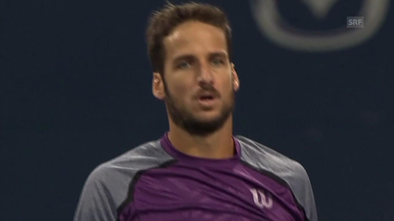 Tennis: Lopez' Matchball gegen Berdych