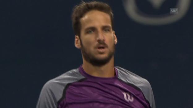 Video «Tennis: Lopez' Matchball gegen Berdych» abspielen