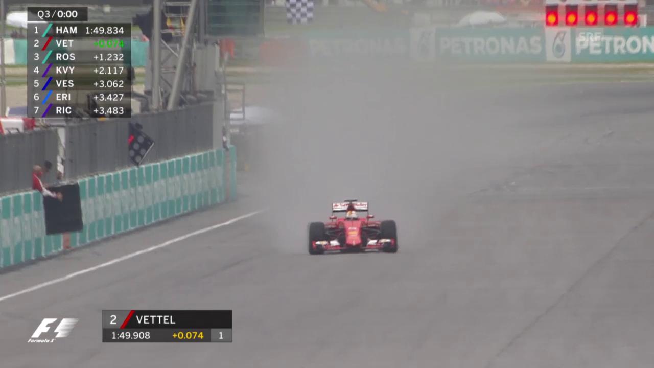 Vettel fängt Rosberg noch ab