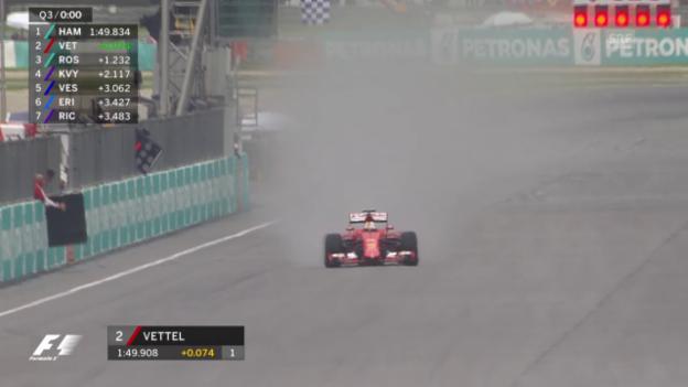 Video «Vettel fängt Rosberg noch ab» abspielen