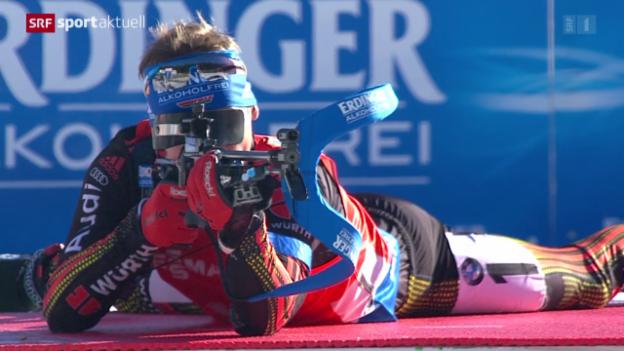 Video «Biathlon: Weltcup in Pokljuka» abspielen